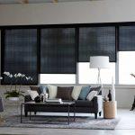 черные шторы с электроприводом
