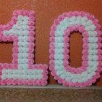 цифры и буквы из салфеток своими руками дизайн декора