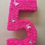 цифры и буквы из салфеток своими руками оформление фото