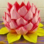 цветок лотоса из салфеток дизайн декор