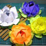 цветок лотоса из салфеток дизайн оформления