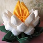 цветок лотоса из салфеток фото дизайна