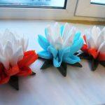 цветок лотоса из салфеток идеи