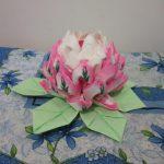 цветок лотоса из салфеток идеи дизайна