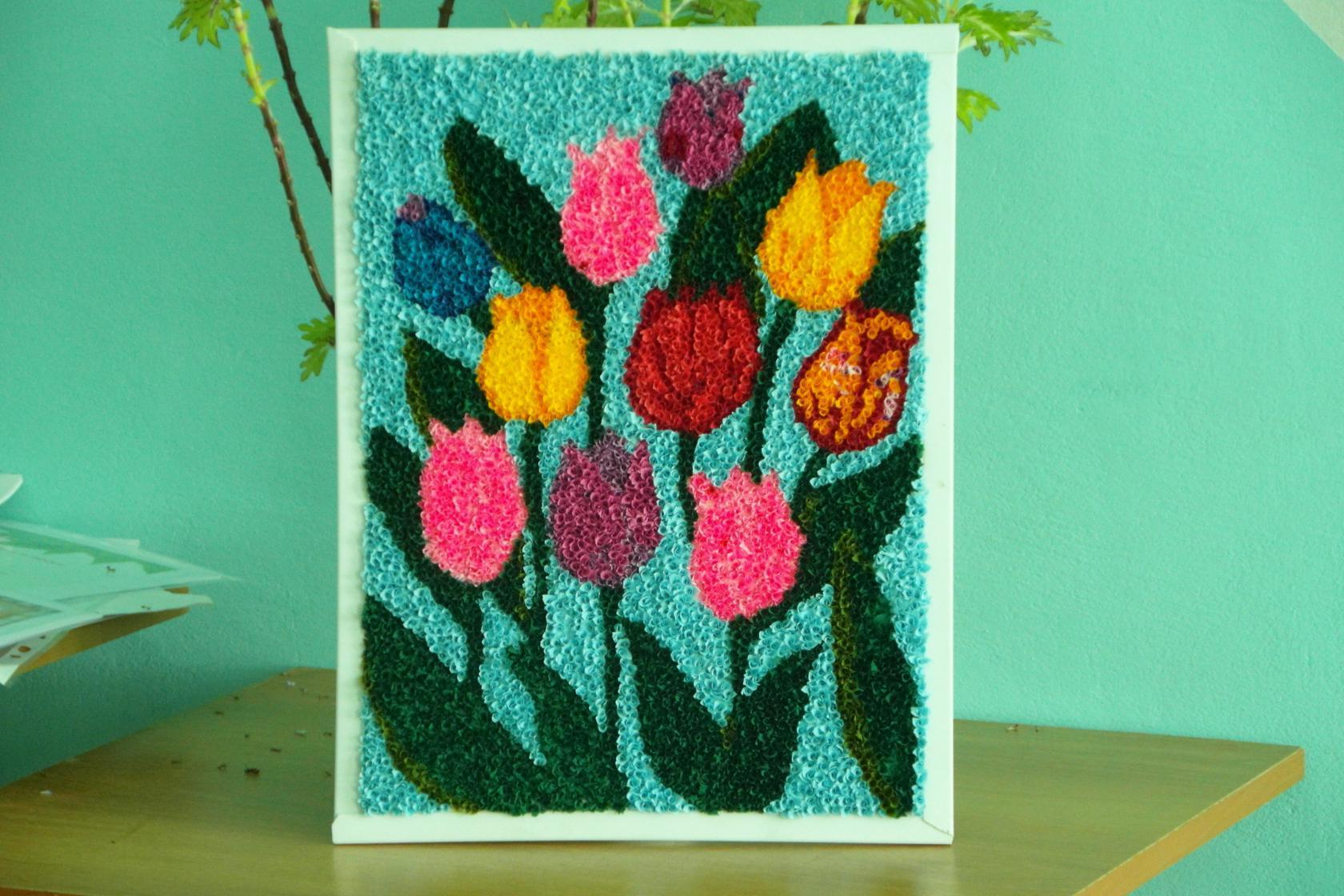 цветы из бумажных салфеток фото варианты