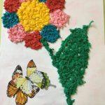 цветы из бумажных салфеток идеи фото