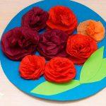 цветы из бумажных салфеток своими руками фото