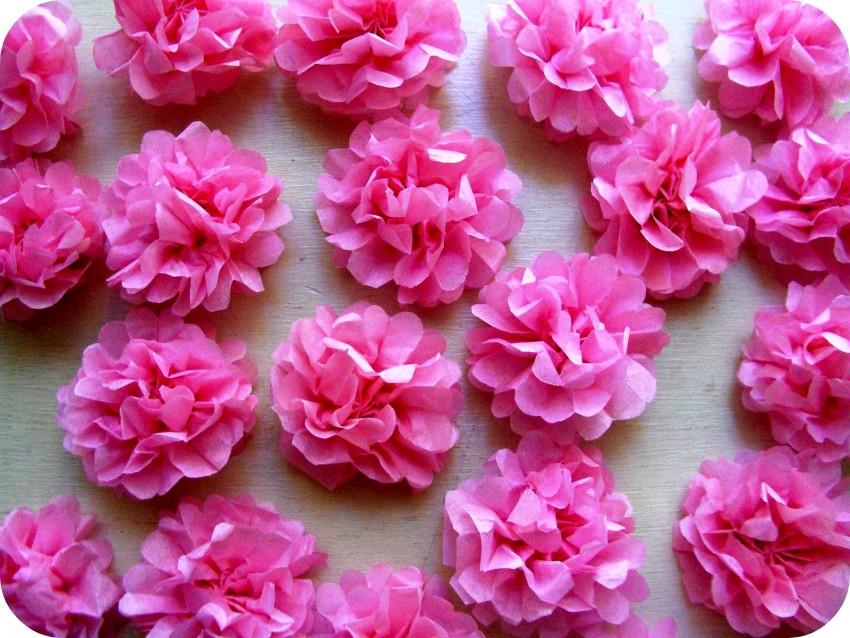 цветы из бумажных салфеток своими руками фото идеи