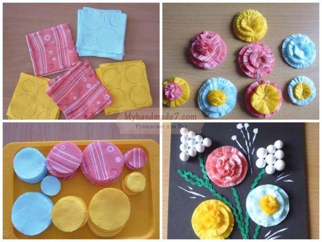 цветы из бумажных салфеток идеи дизайн