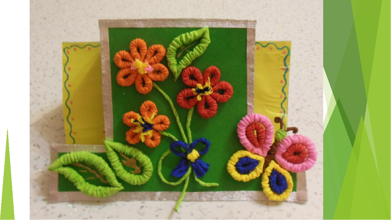 цветы из бумажных салфеток скрученных