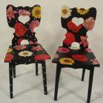 декупаж стула цветами