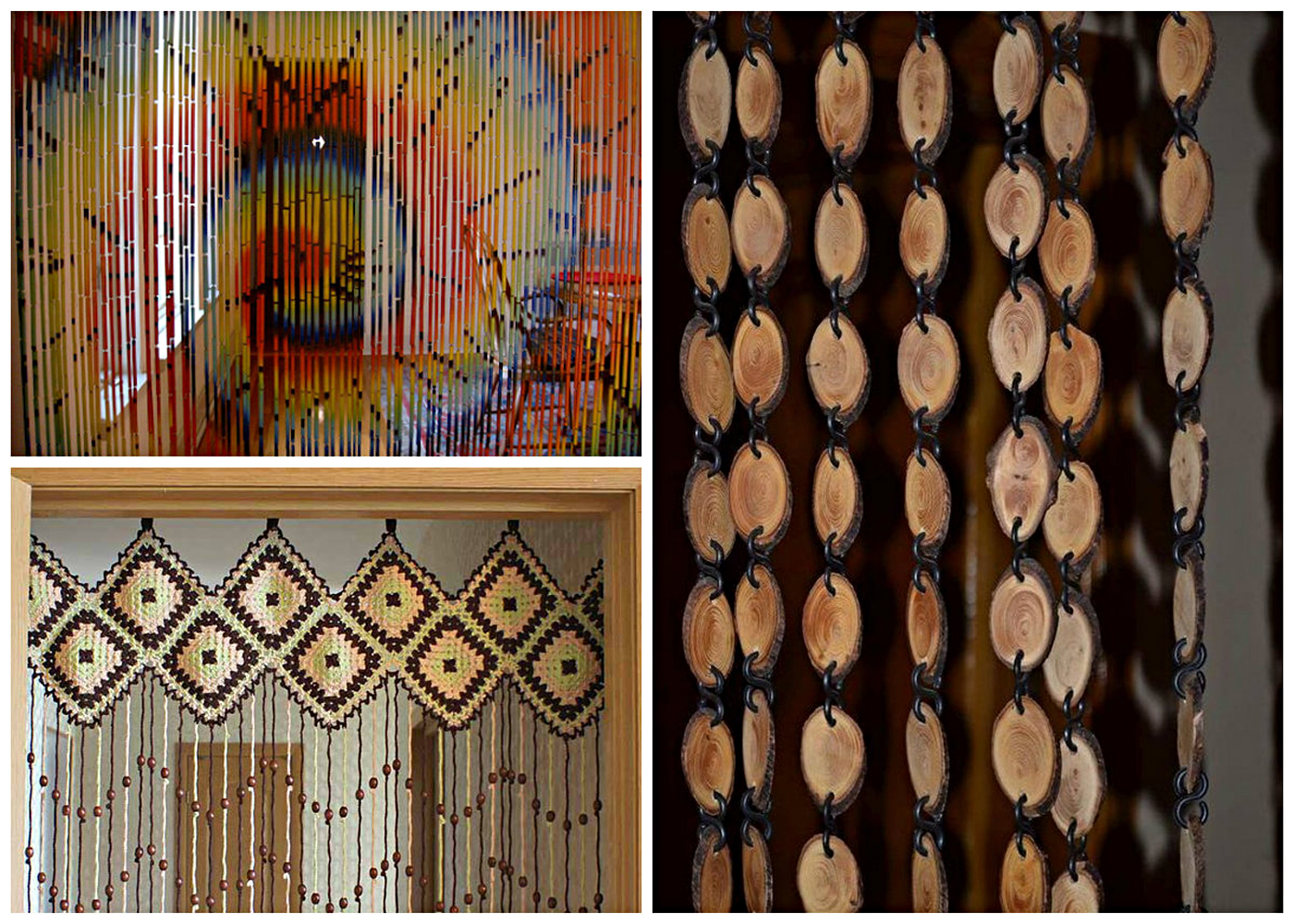 деревянные занавески дизайн