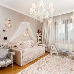 Интерьер комнаты для девочки в классическом стиле