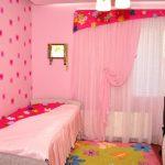 Дизайн детской в розовом цвете