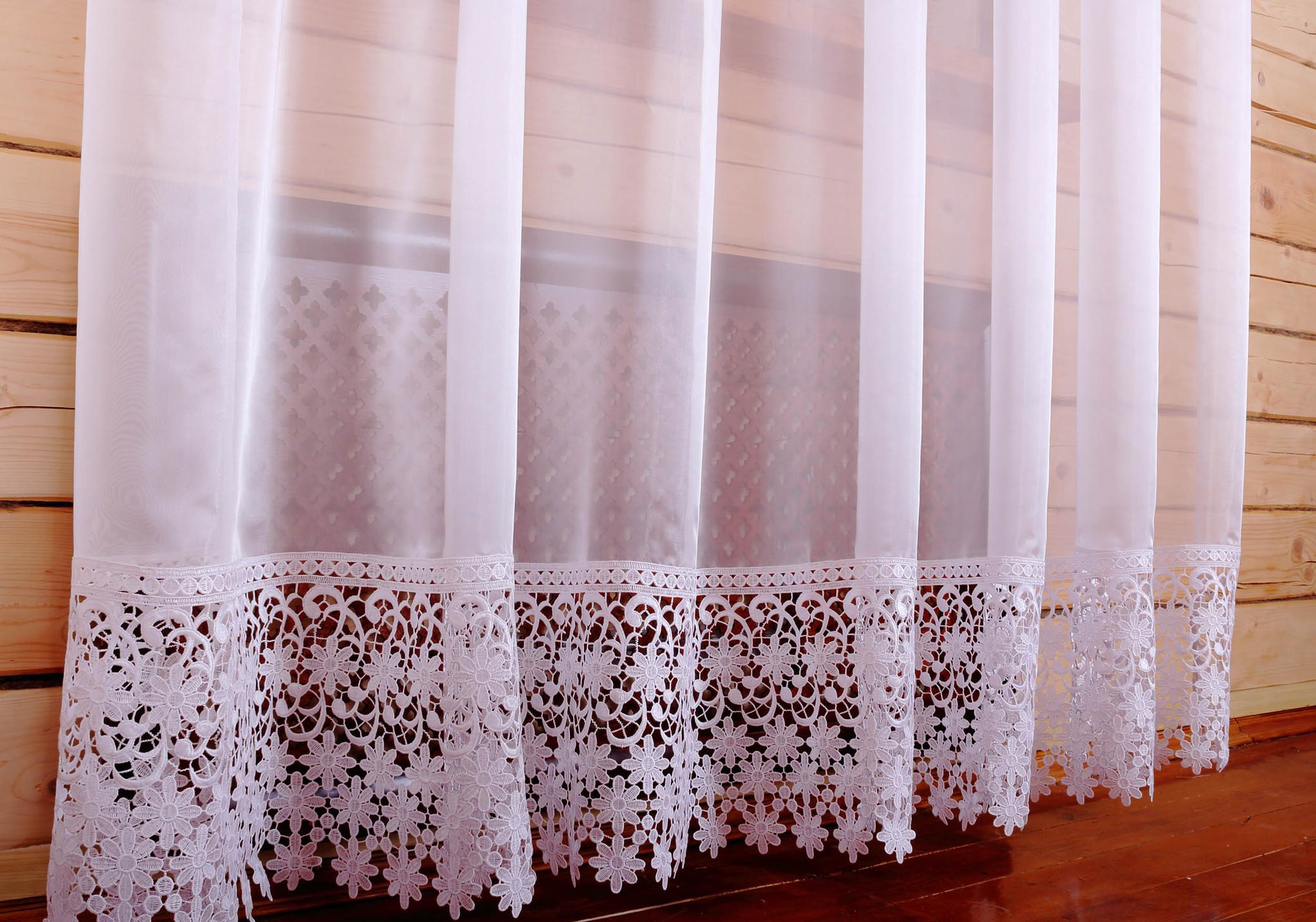дизайн тюля с декором