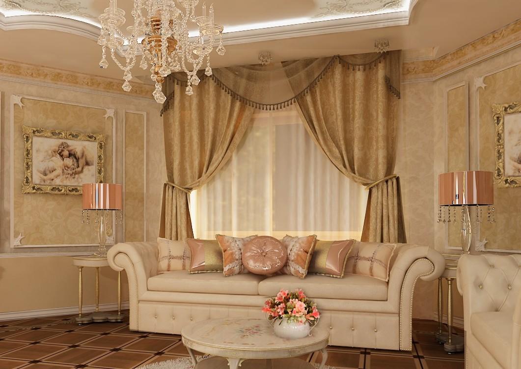дизайн классической гостиной