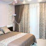 плотные шторы в спальне