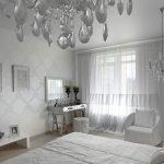 Дизайн спальной комнаты в белом цвете