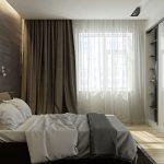 Телевизор в интерьере современной спальни