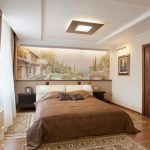 Интерьер спальни с занавесками из натуральных тканей