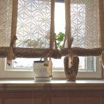 Вязаные римские шторы своими руками