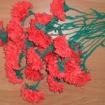 гвоздики из салфеток