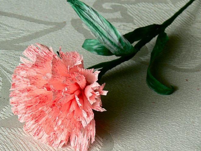 гвоздики из салфеток декор фото