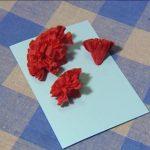 гвоздики из салфеток фото оформления