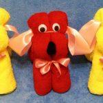 игрушки из полотенца декор