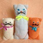 игрушки из полотенца идеи дизайна