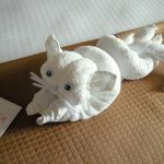 игрушки из полотенца кот