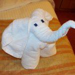 игрушки из полотенца слон