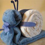 игрушки из полотенца улитка
