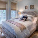 шторы из рогожки в спальне