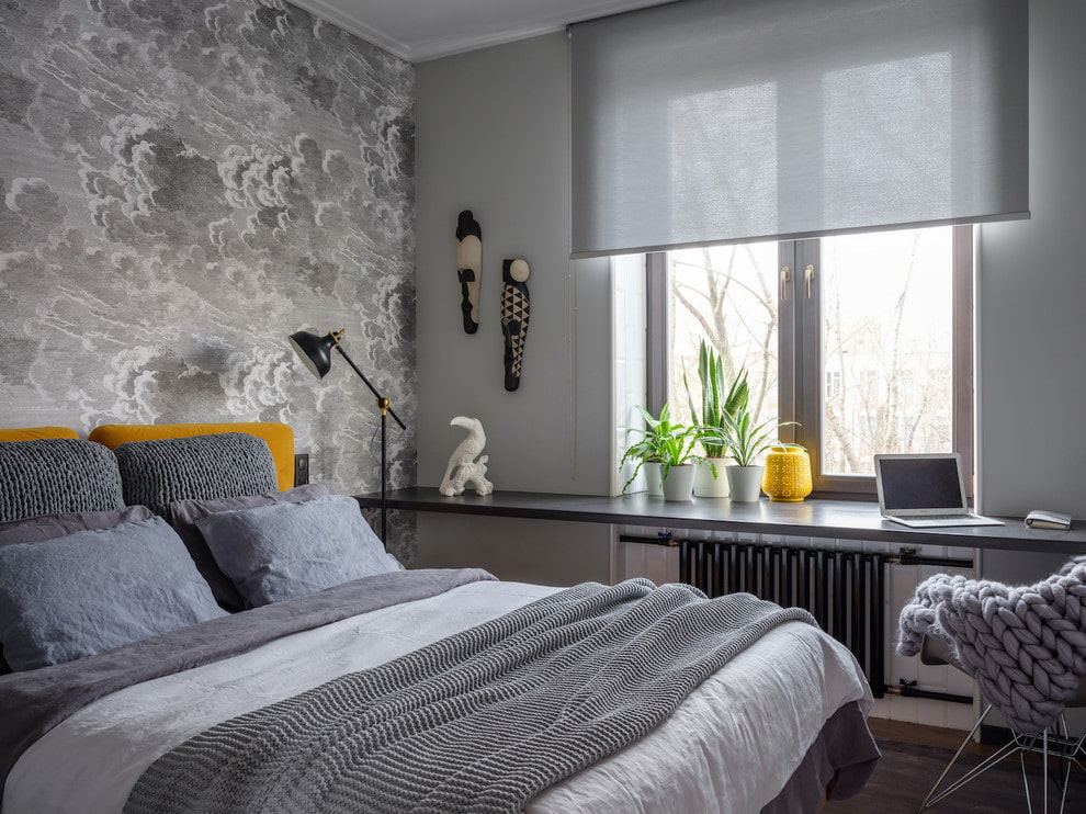 короткие шторы до подоконника в спальню фото идеи