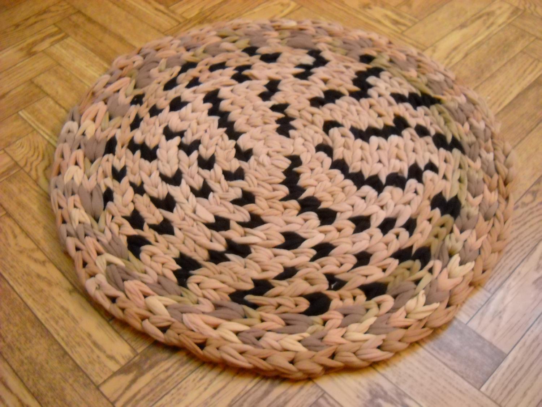 коврик из колготок фото декора