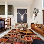 ковры в стиле пэчворк интерьер