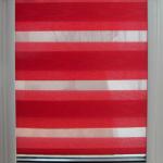 Красная штора закрытого типа день-ночь
