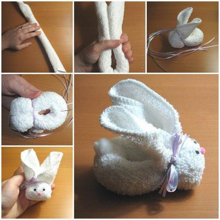 кролик из полотенец