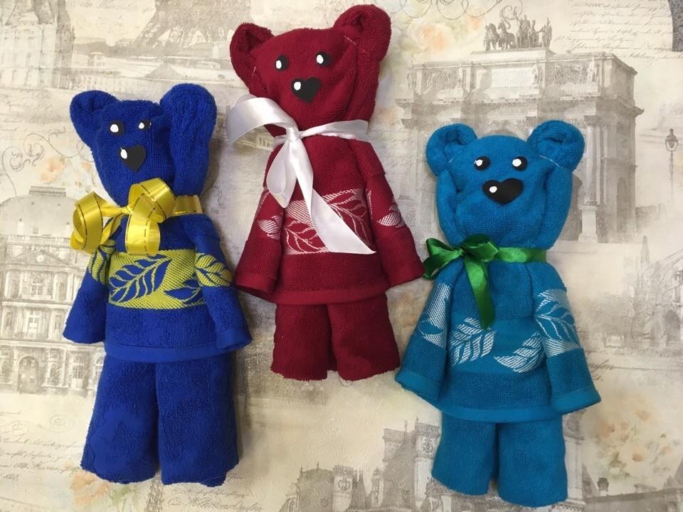 медведи из полотенец