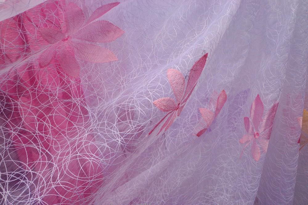 Полотно прозрачной занавески из тюля-сетки