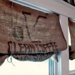 шторы из рогожки мешки из под кофе