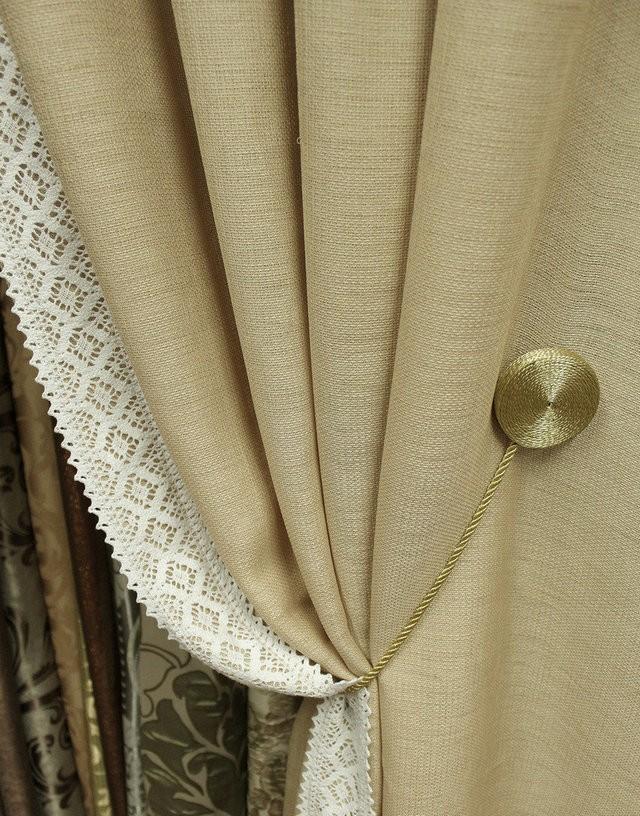 мешковина рогожка шторы фото