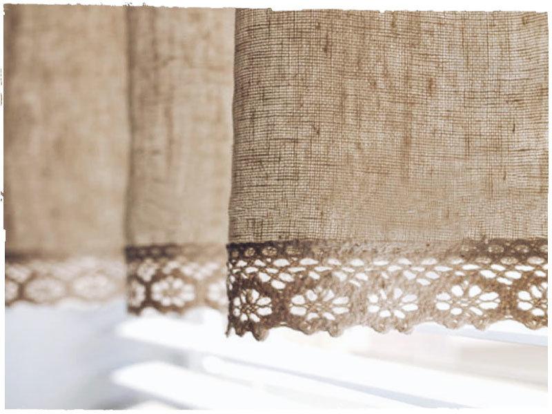 мешковина шторы фото дизайна