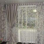 шторы из вуали многослойные
