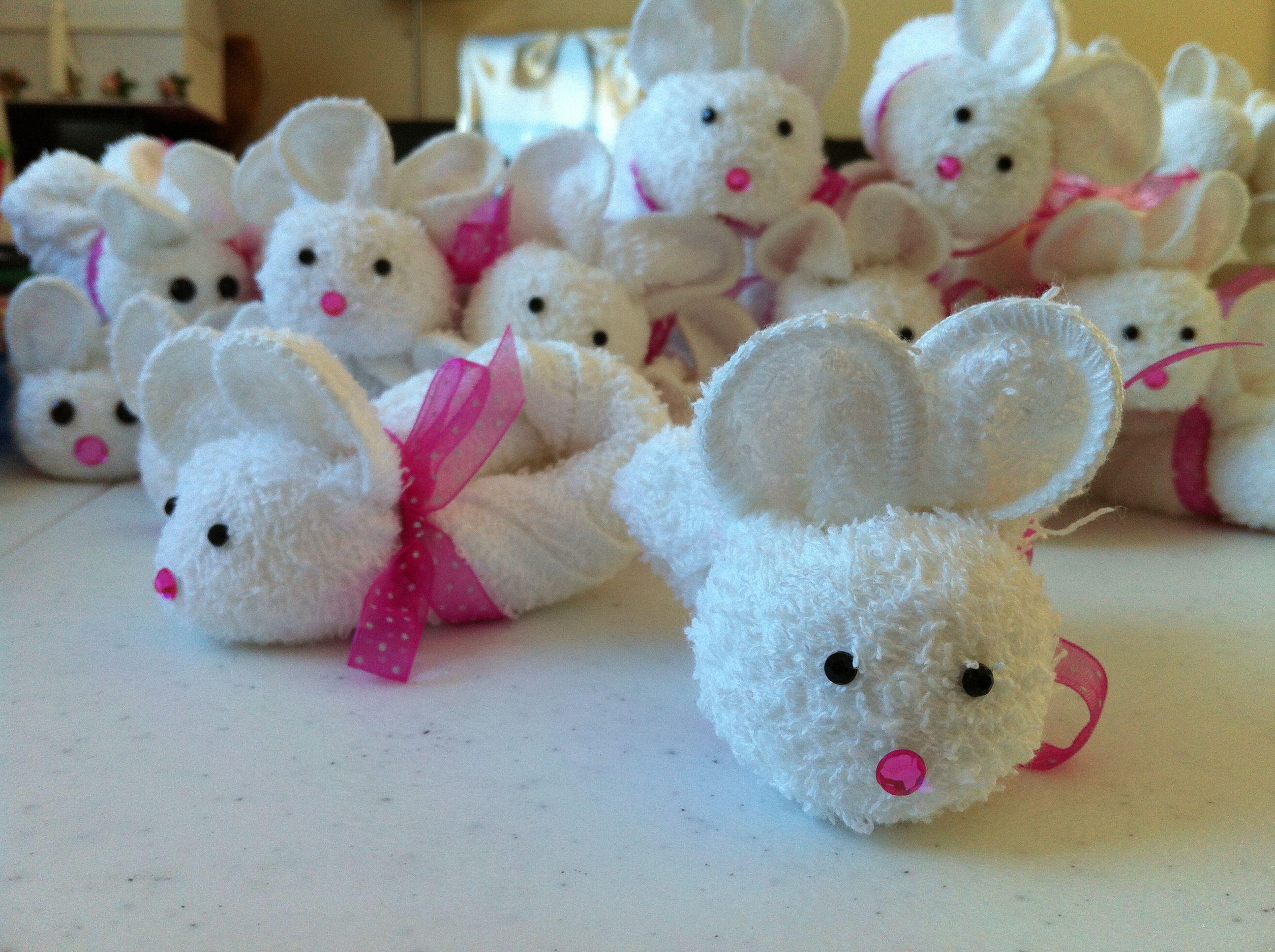 мыши из полотенец