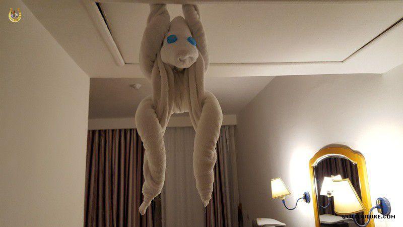 обезьяна из полотенца