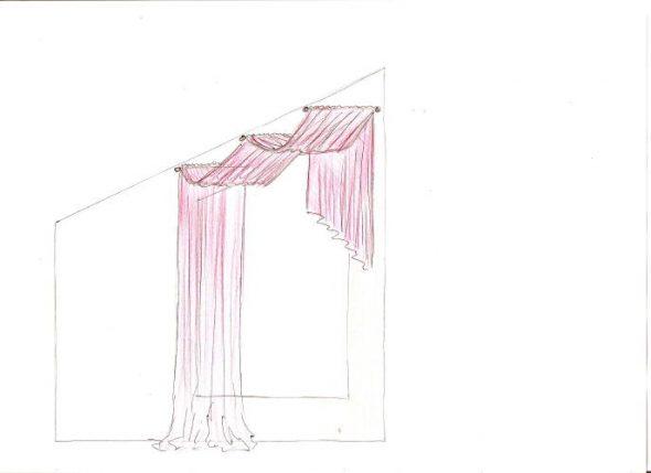 Оформление окна тканью