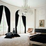 красивые шторы в квартире черные