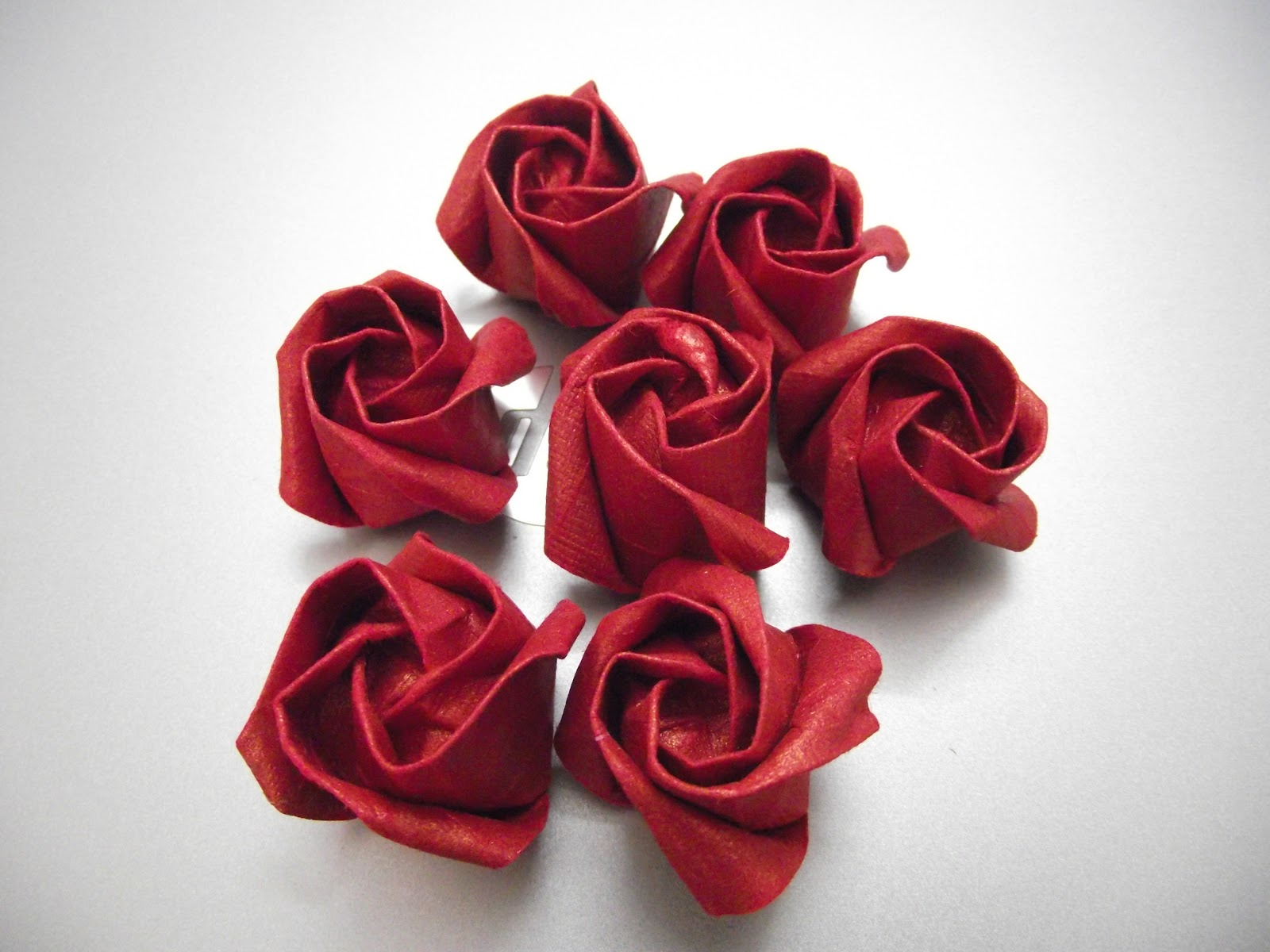 оригами из салфеток роза